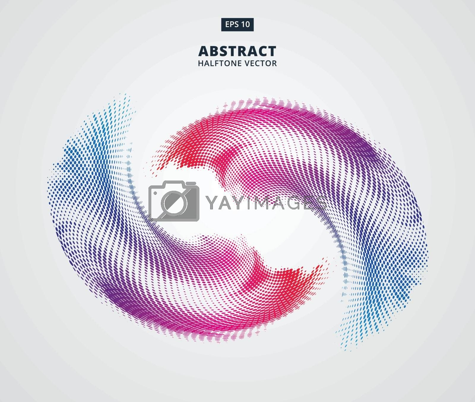abstract vector halftone colorful element on white background