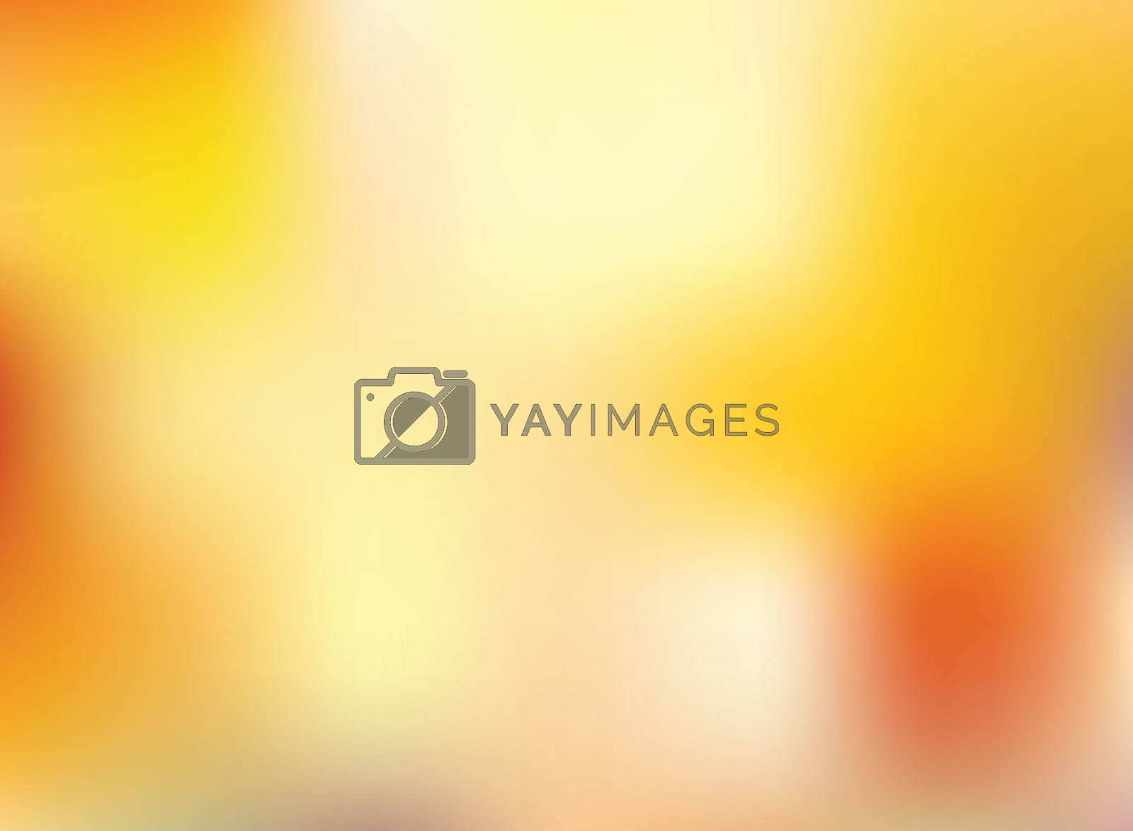 Abstract autumn season orange and yellow bright color blurred background. Vector illustration