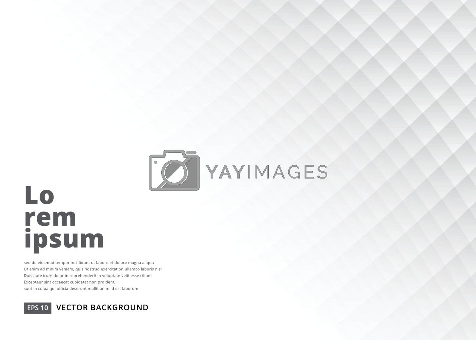 Abstract square background with perspective. White soft texture. vector illustration