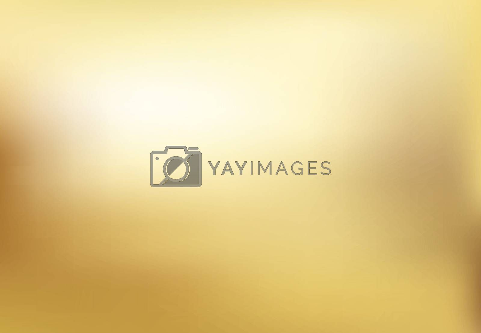 Vector gold blurred gradient style background. Abstract smooth illustration, wallpaper.