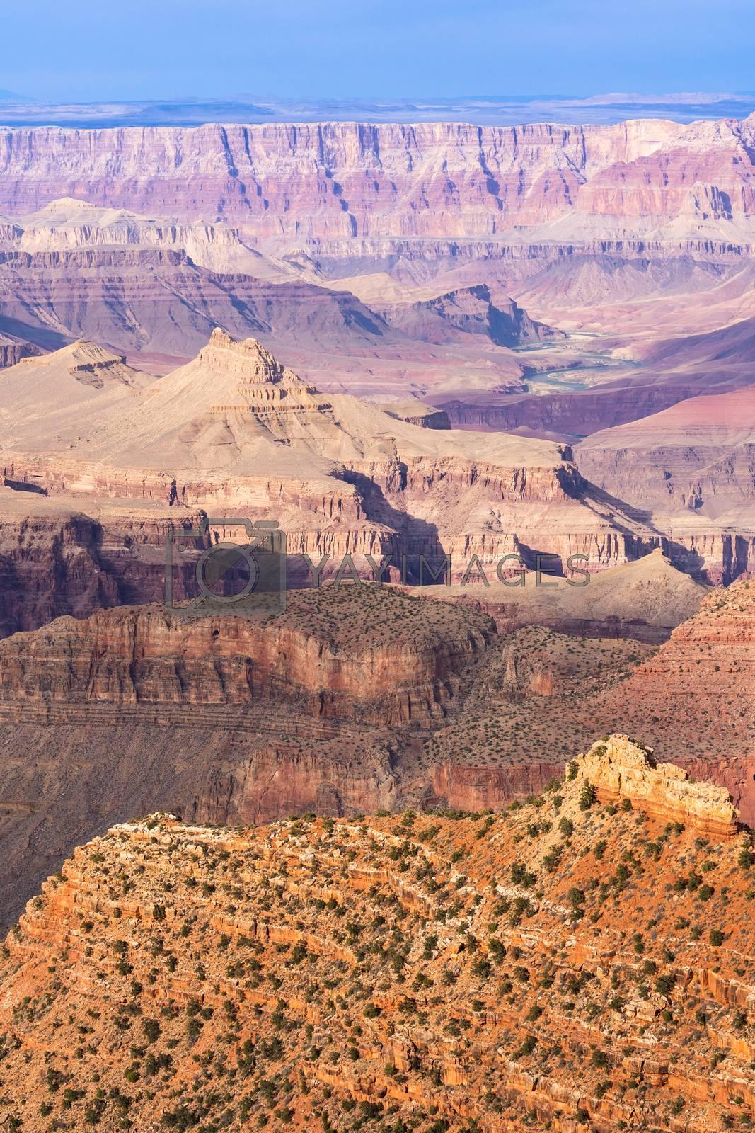 South rim of Grand Canyon in Arizona USA