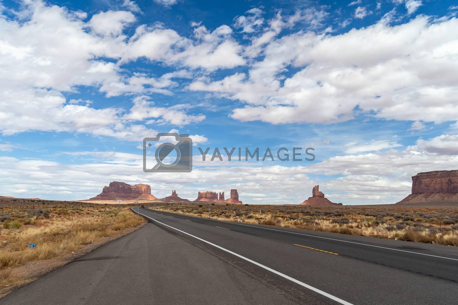 Monument Valley Navajo Tribal Park in Utah USA