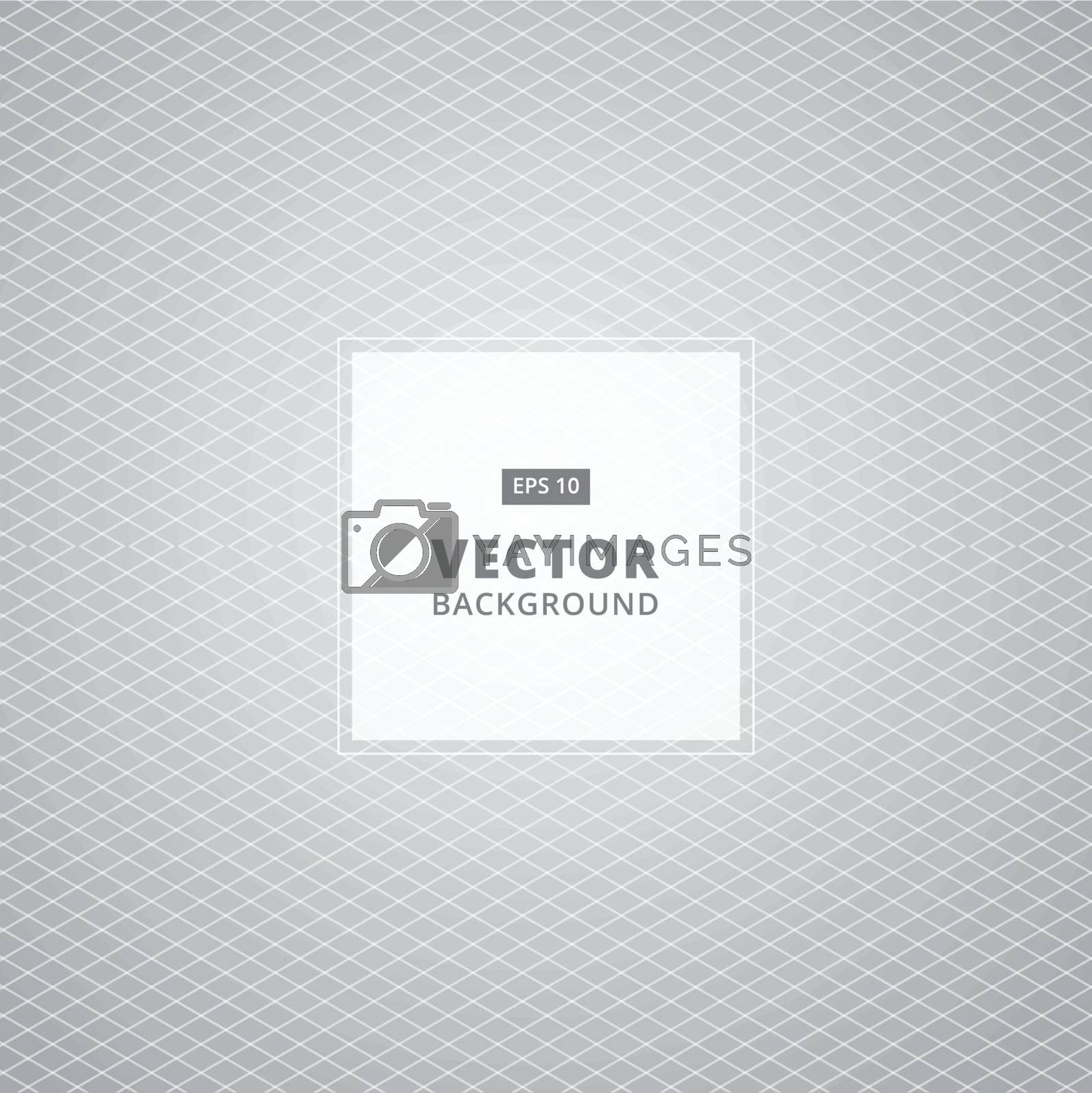 Abstract White and gray grid pattern background. Vector Illustration