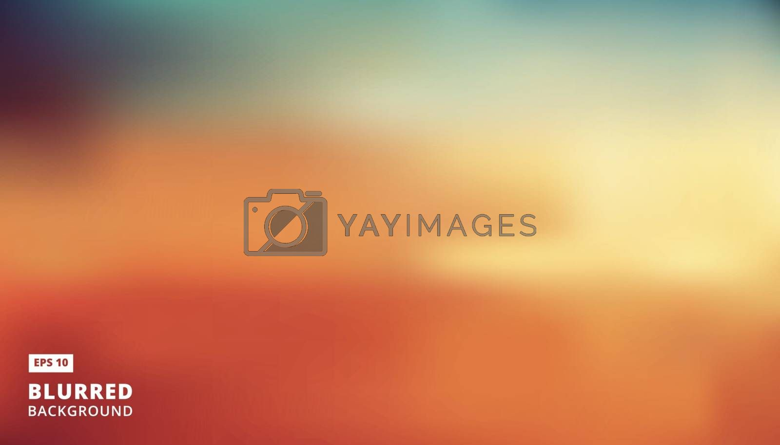 panorama abstract creative concept vector multicolored blurred background, Vector Illustration