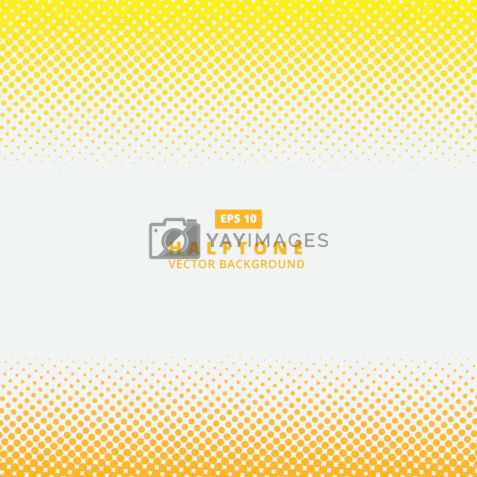 Abstract yellow dotted line vector halftone effect background with copy space