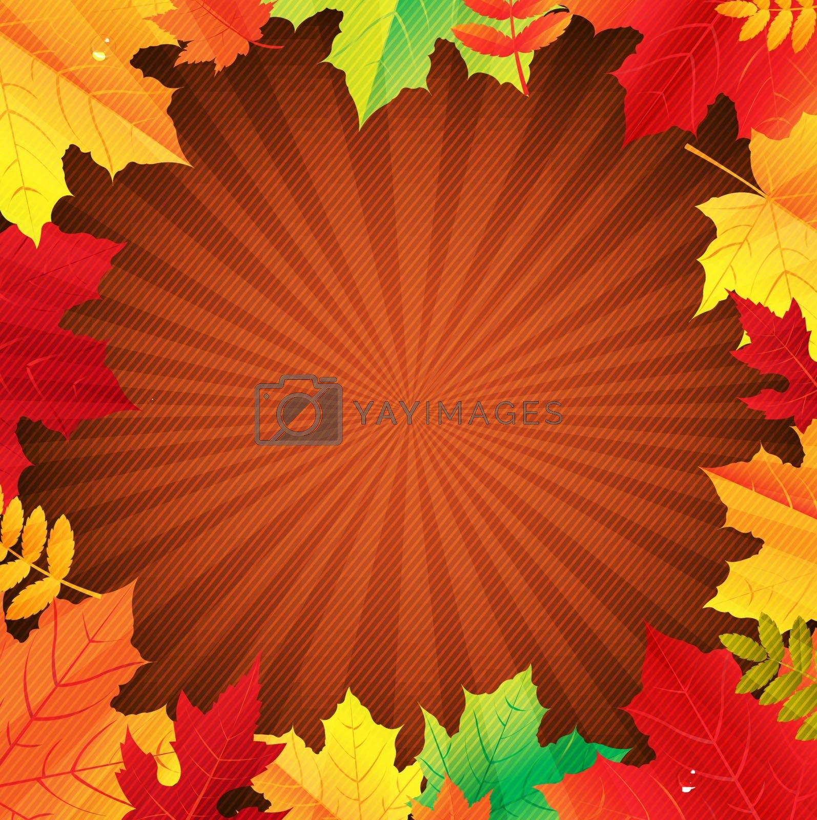 Autumn Poster With Leaves by adamson