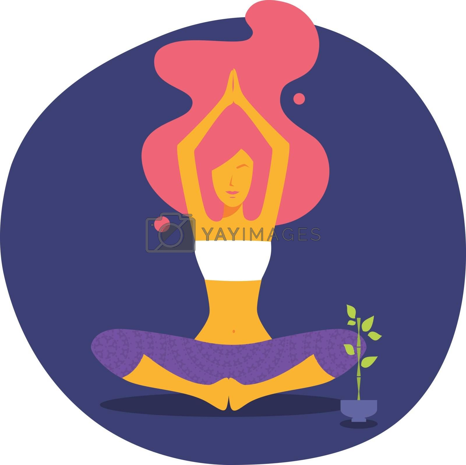 Vector illustration of Yoga woman