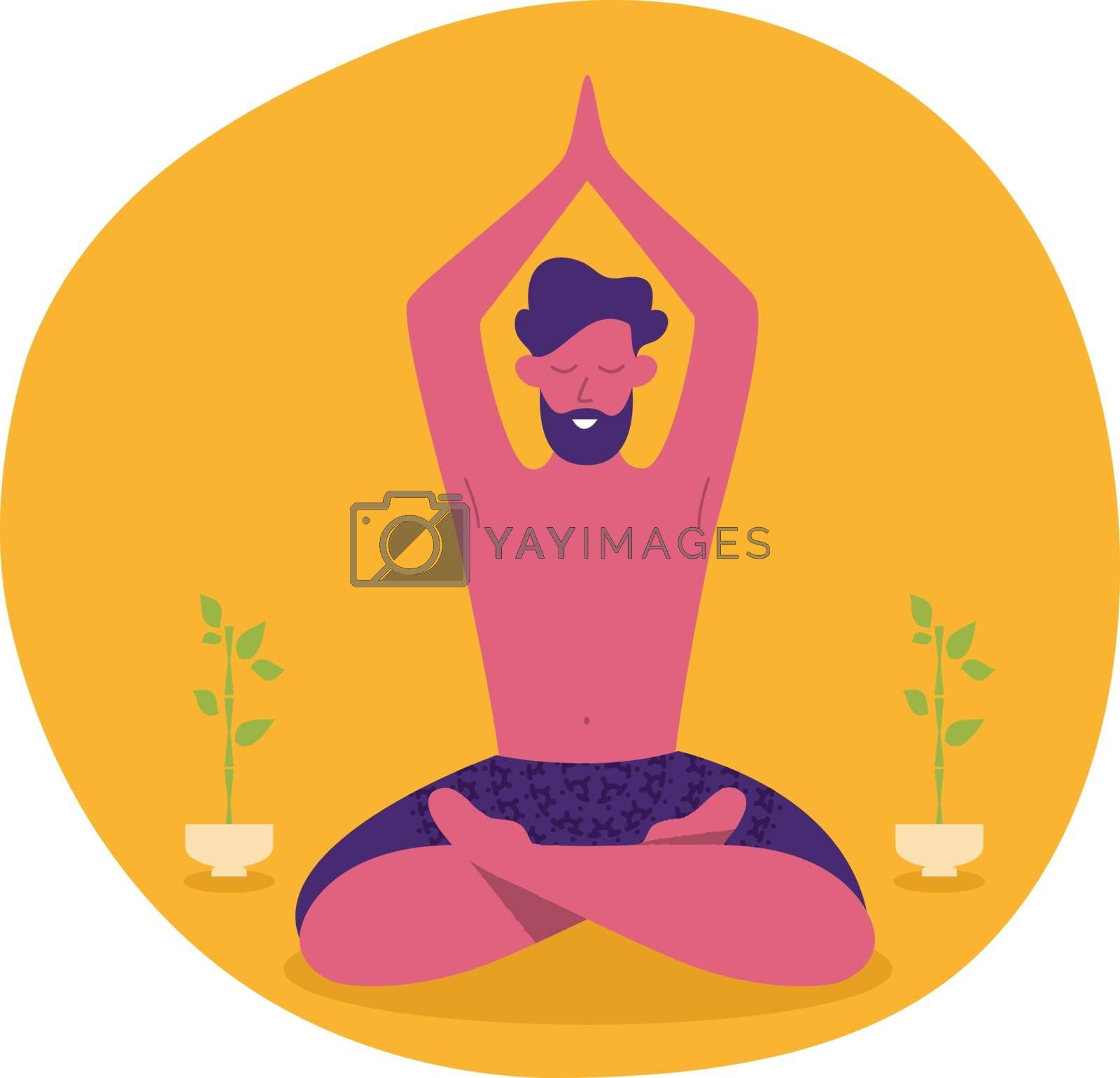 Vector illustration of Yoga man