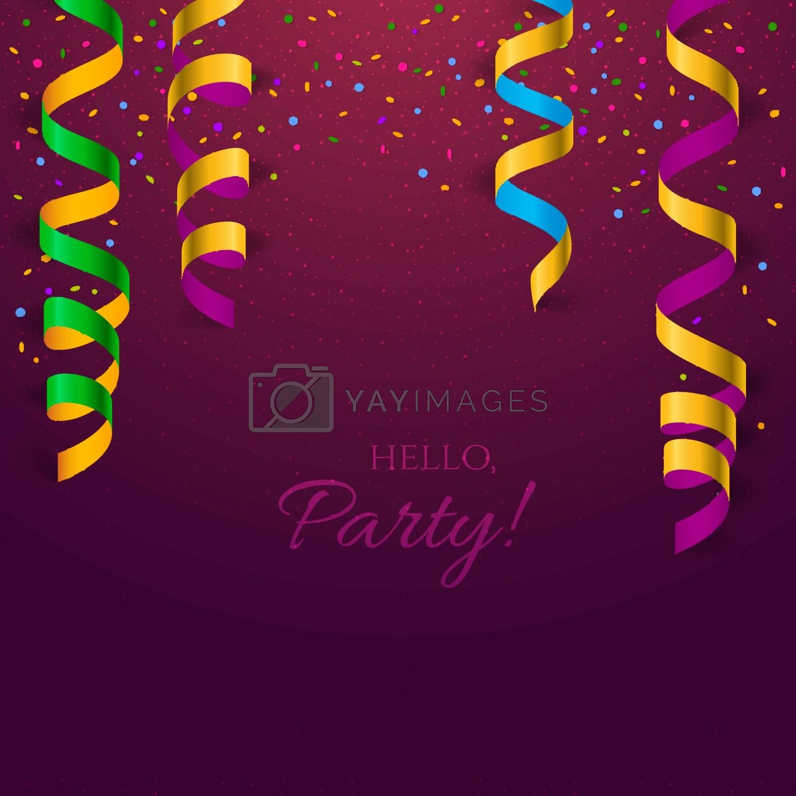 Vector illustration of Background with colored confetti