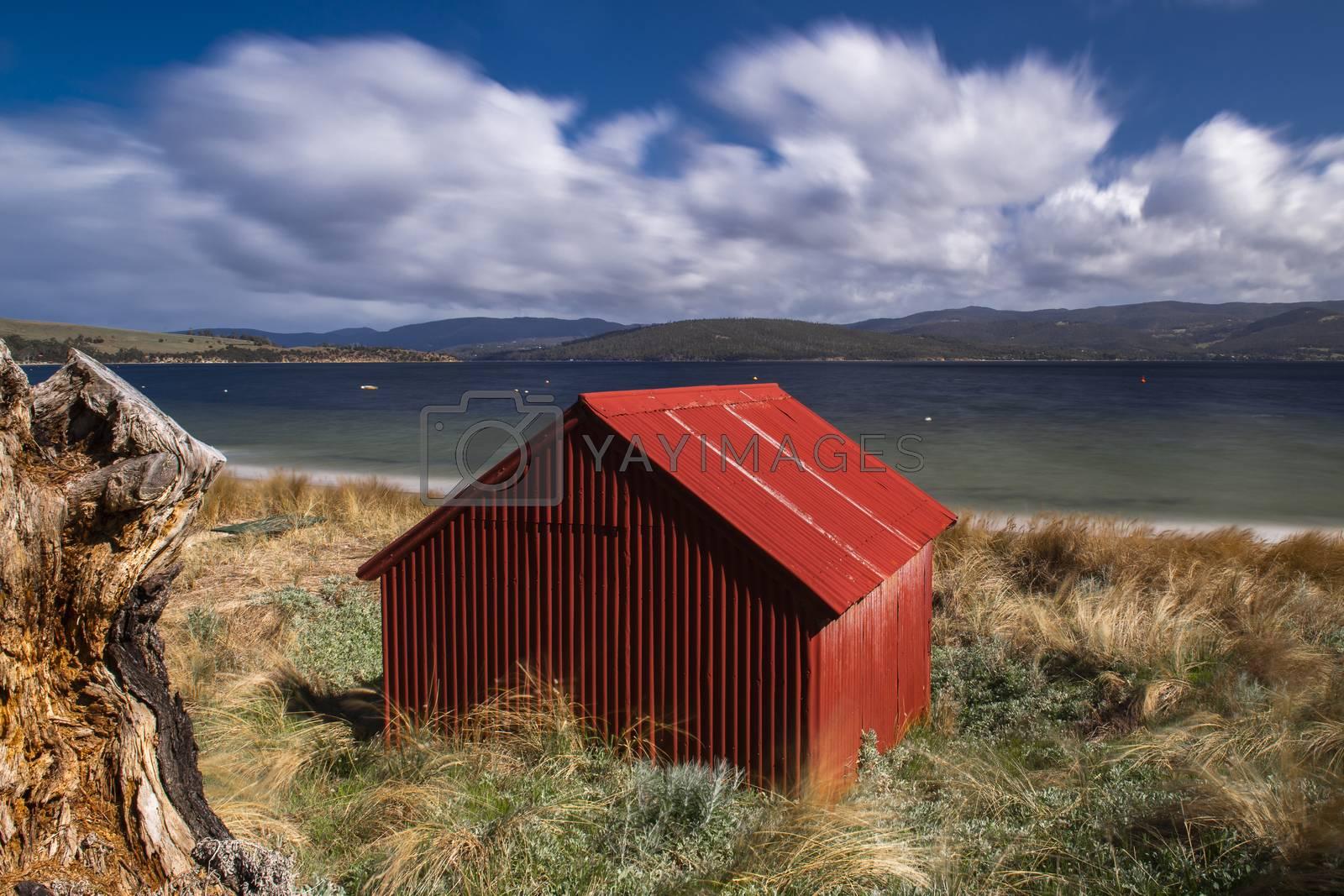 Royalty free image of Dennes Point beach located on Bruny Island in Tasmania. by artistrobd