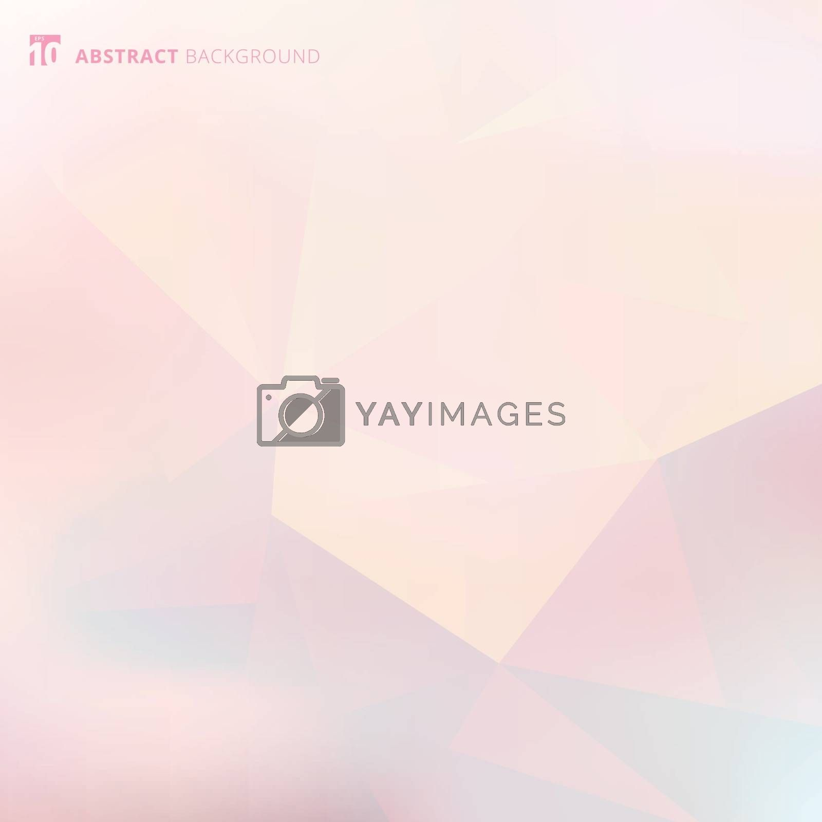 Abstract low polygon and triangles geometric pattern sample with gradient on pink background. Vector illustration