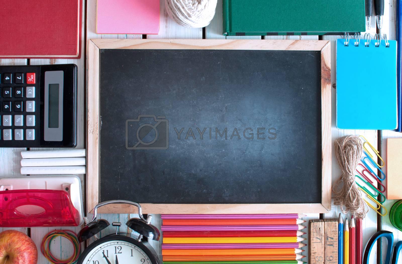 Royalty free image of Blackboard background by unikpix