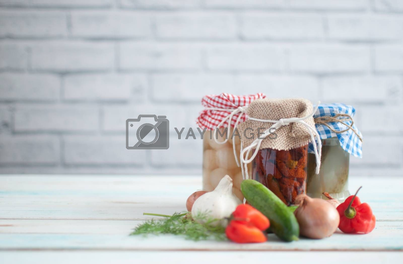 Royalty free image of Fermented prebiotic foods by unikpix