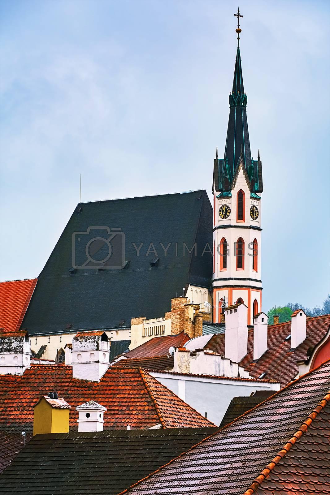 Church in the Cesky Krumlov, Czech Repulic