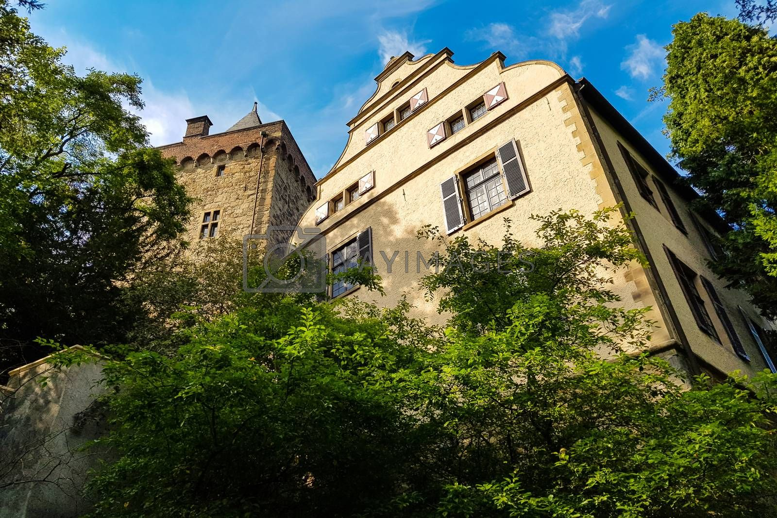 The medieval castle Schloss Landsberg in Germany