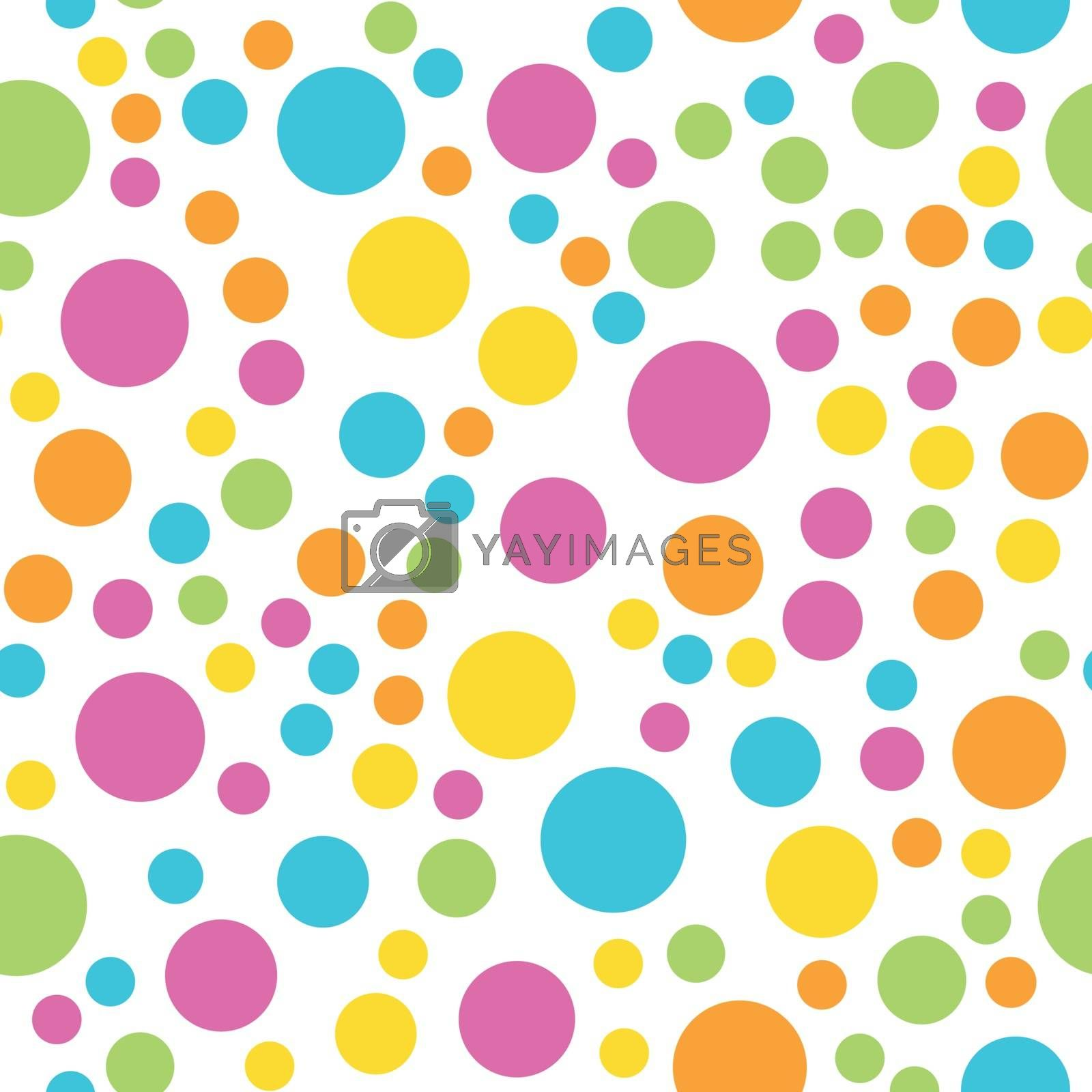 Colorful seamless pattern. Happy, funny and infantile theme. Abstract vector background.