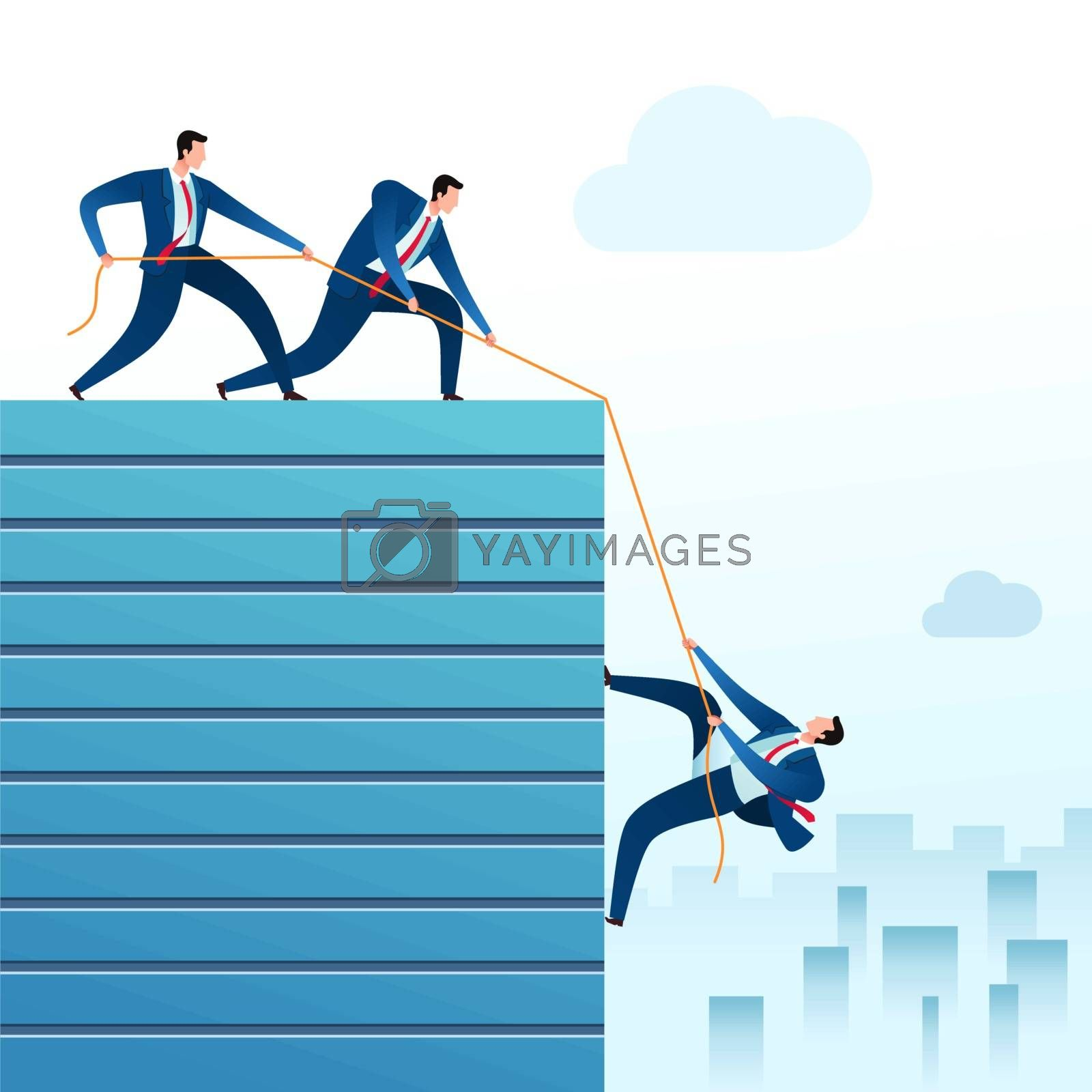 helping a team member to reach top position