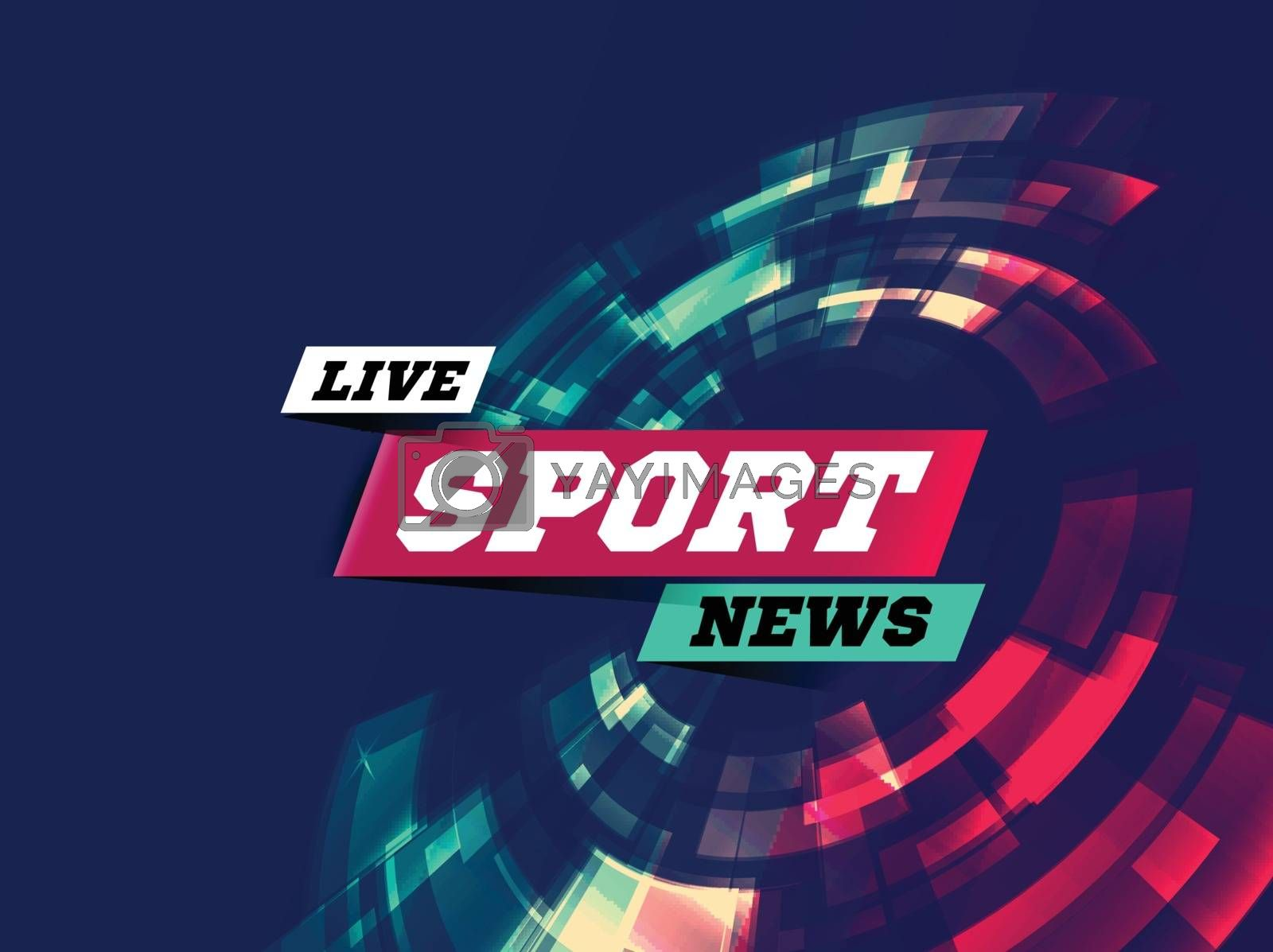 Live Sport News Can be used as design for television news, Internet media, landing page. Vector illustration