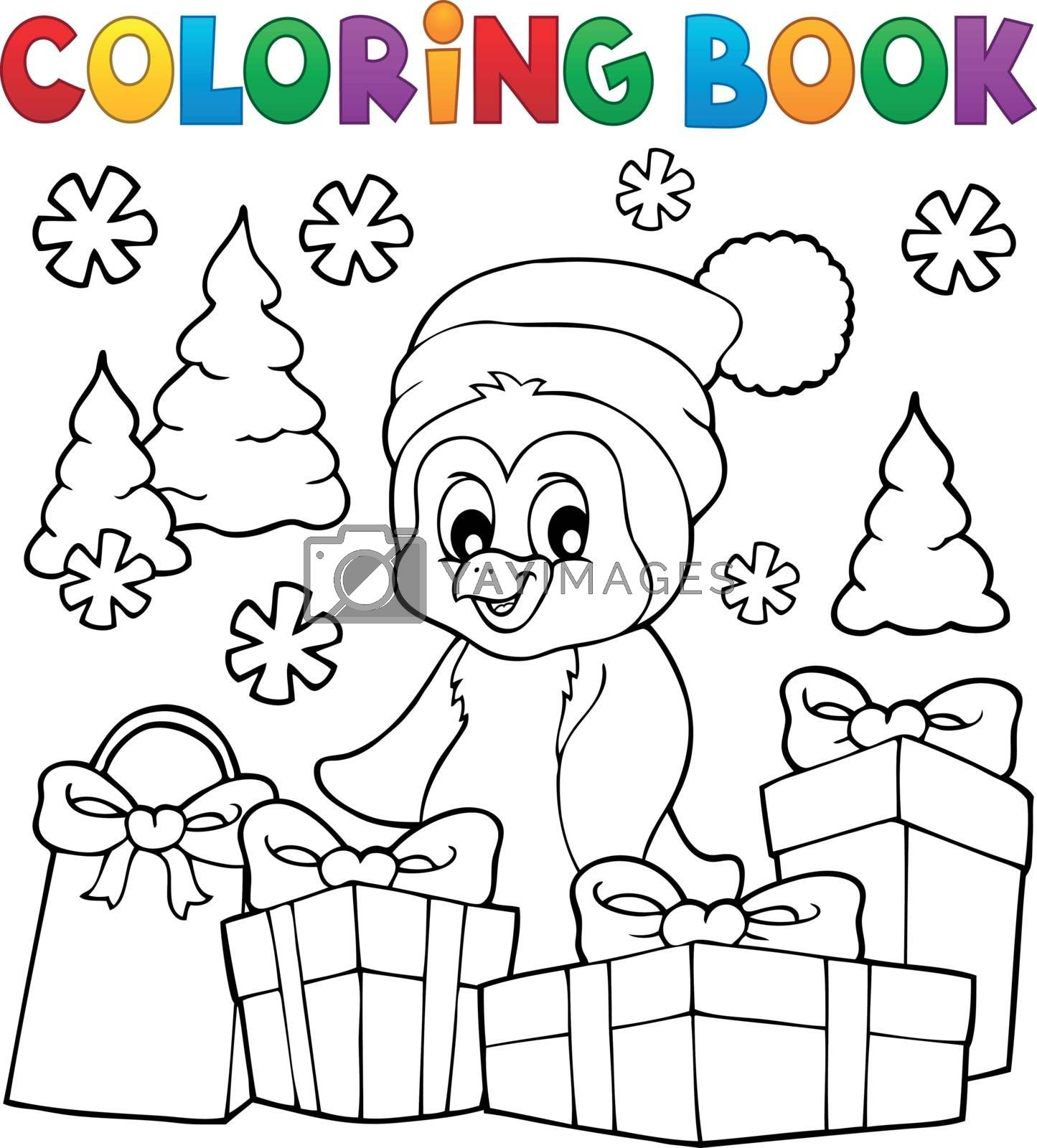 Coloring Book Christmas Penguin Topic 3 Royalty Free Stock Image Yayimages Royalty Free Stock Photos And Vectors