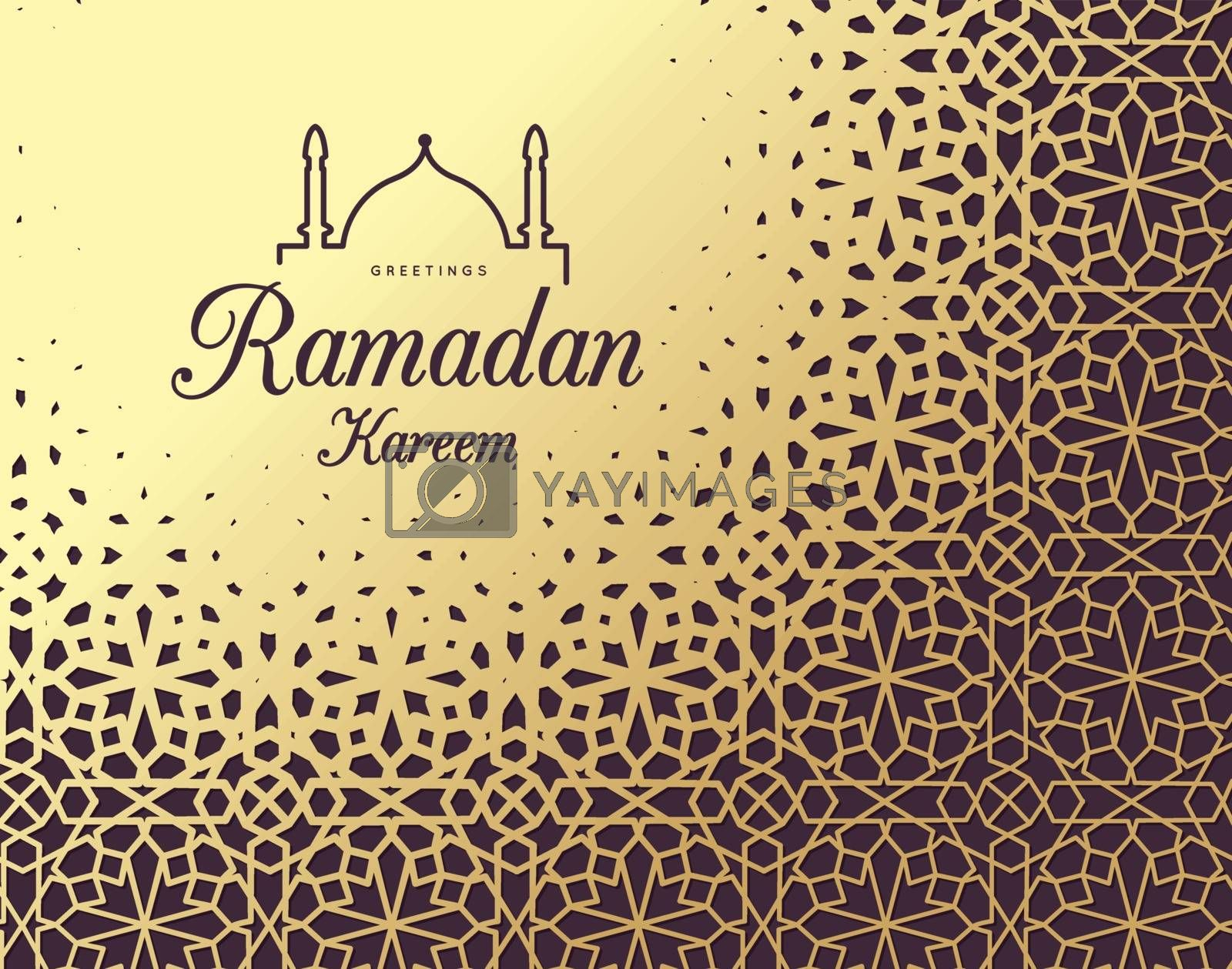 Ramadan Kareem. Congratulations on the holiday. Vector by sermax55