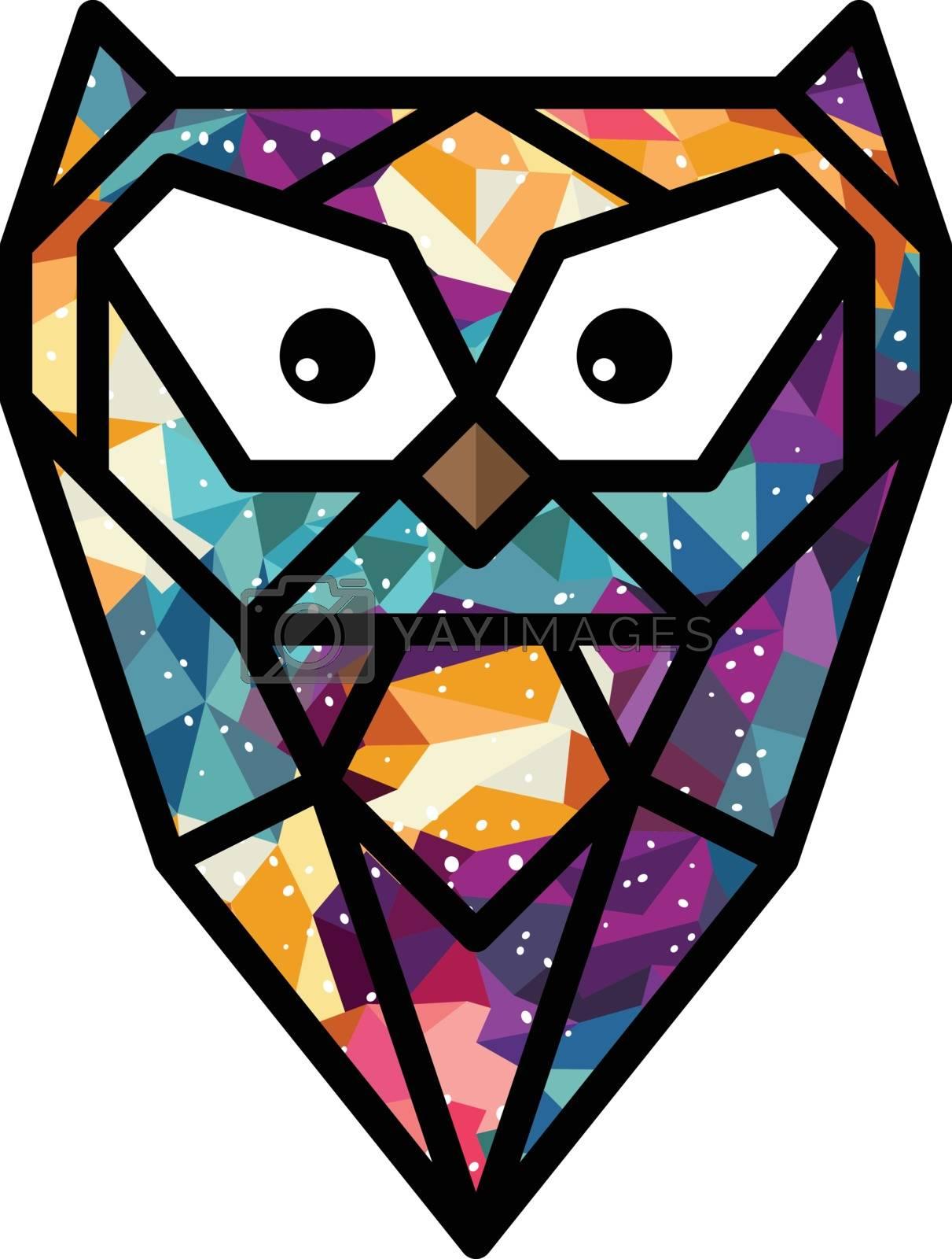 colorful theme owl bird vector art illustration