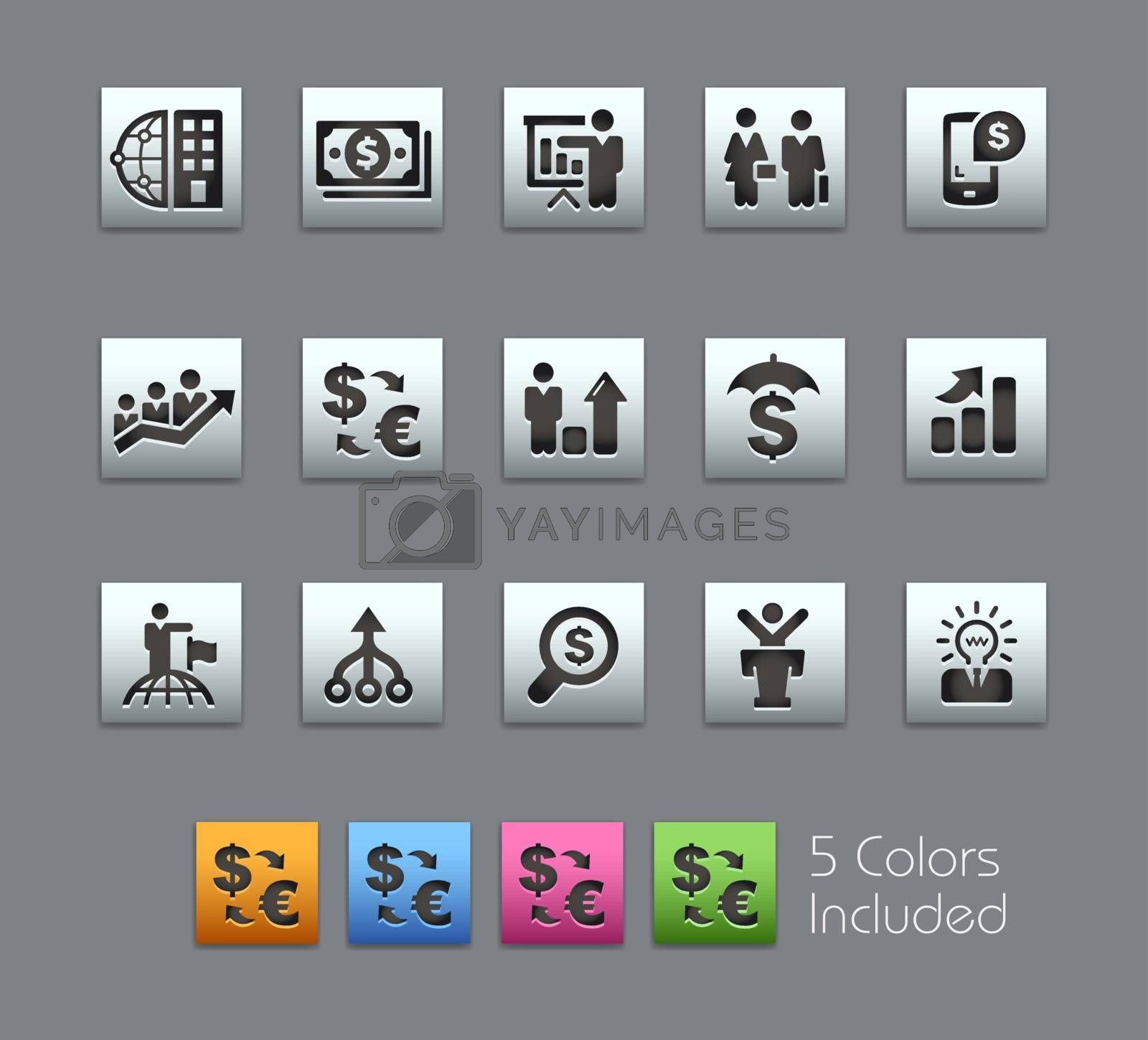 The .eps file includes 5 color versions in different layers