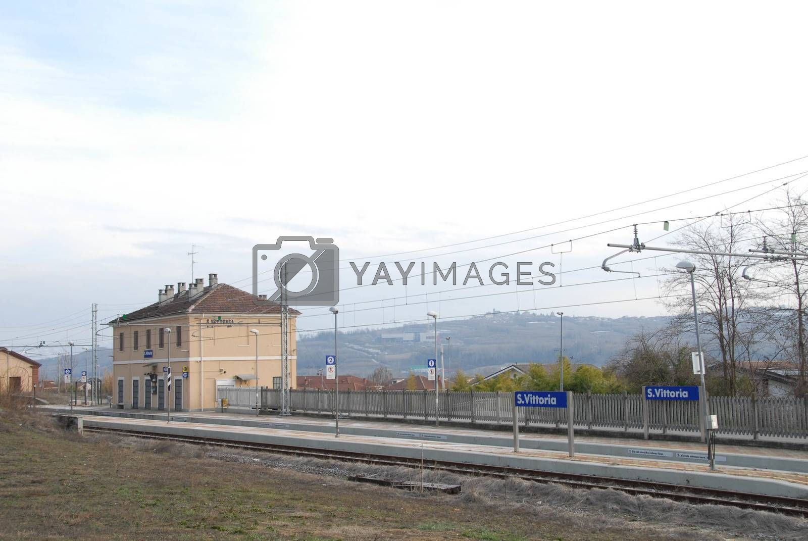 Santa Vittoria d'Alba railway station, Piedmont - Italy