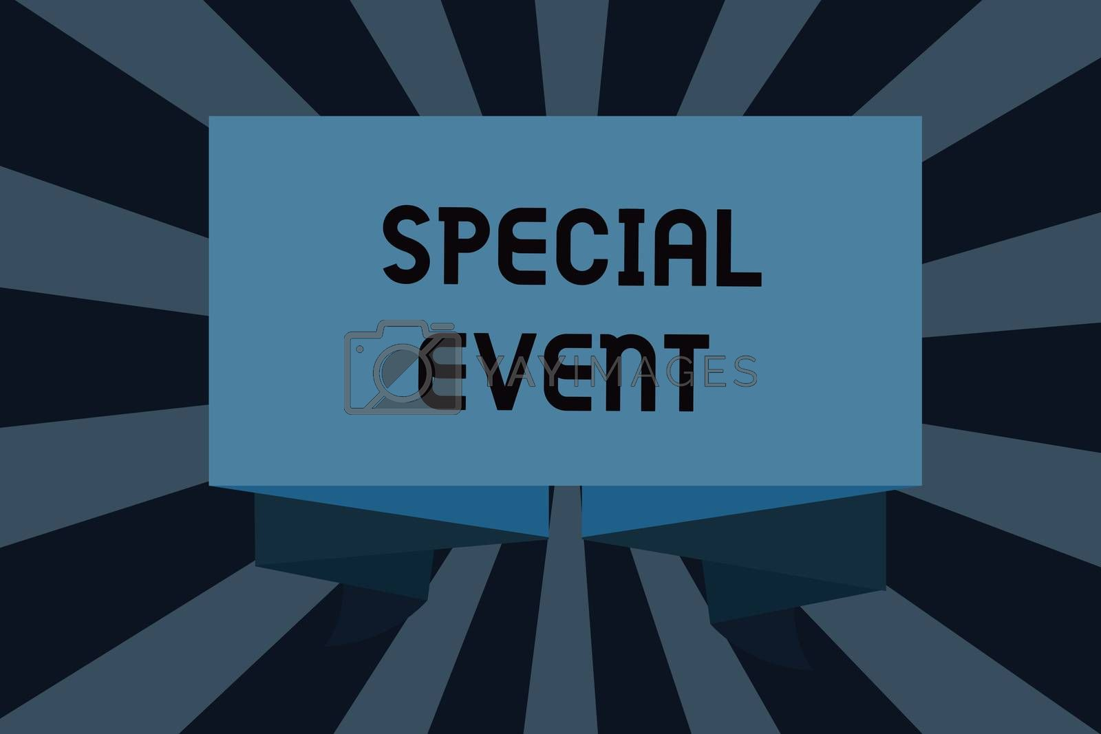 Text sign showing Special Event. Conceptual photo Function to generate money for non profit a Crowded Occassion.