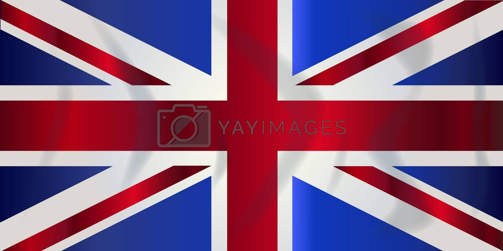 Typical Union Jack flag of the United Kingdom of England Scotland Ireland and Wales