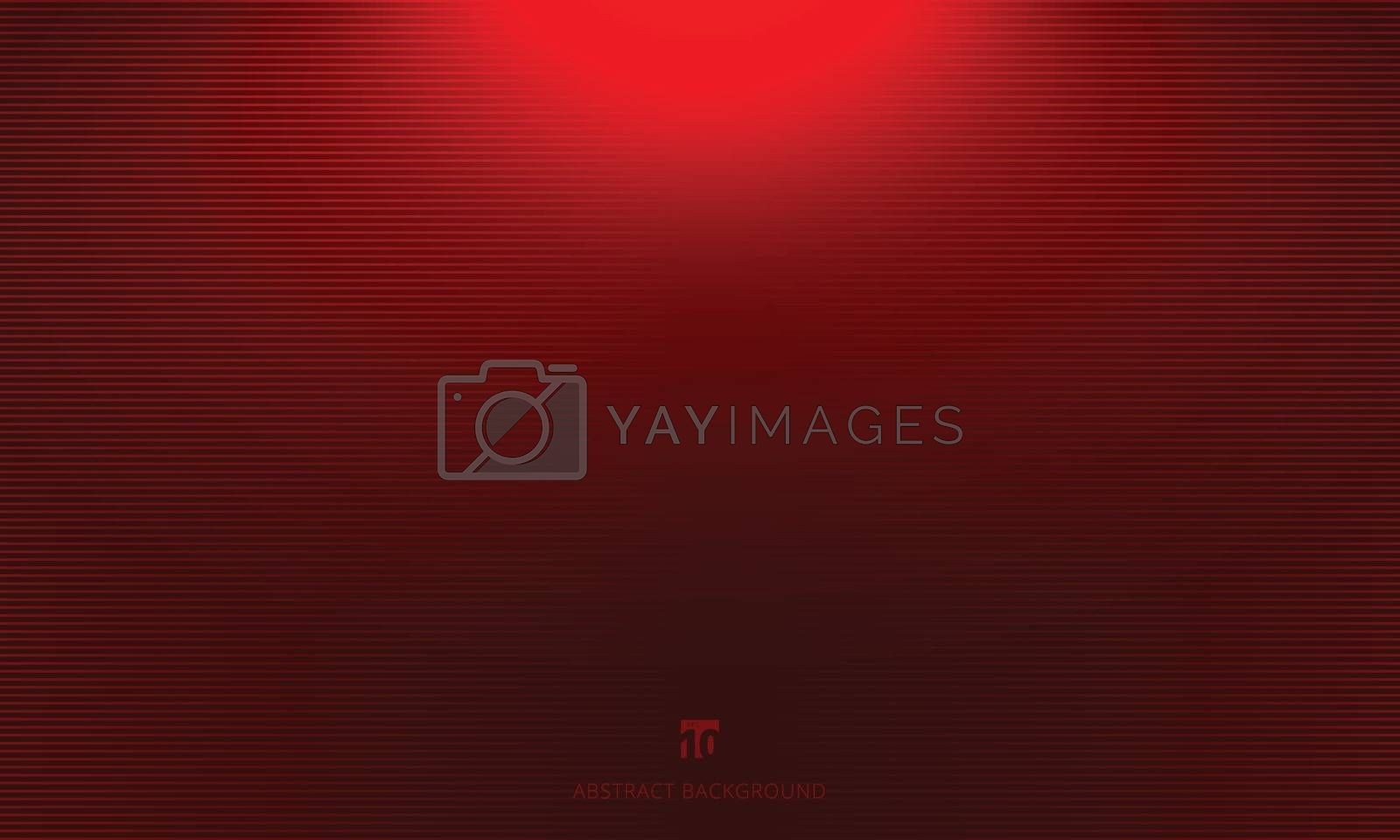 Studio room red background with lighting well use as Business backdrop, Template mock up for display of product, Vector illustration