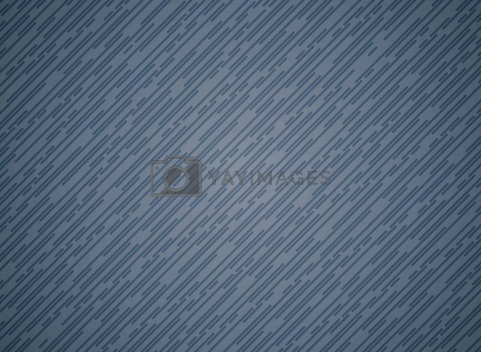 Abstract blue thin rounded line pattern oblique pattern on dark blue color background and texture. Vector illustration