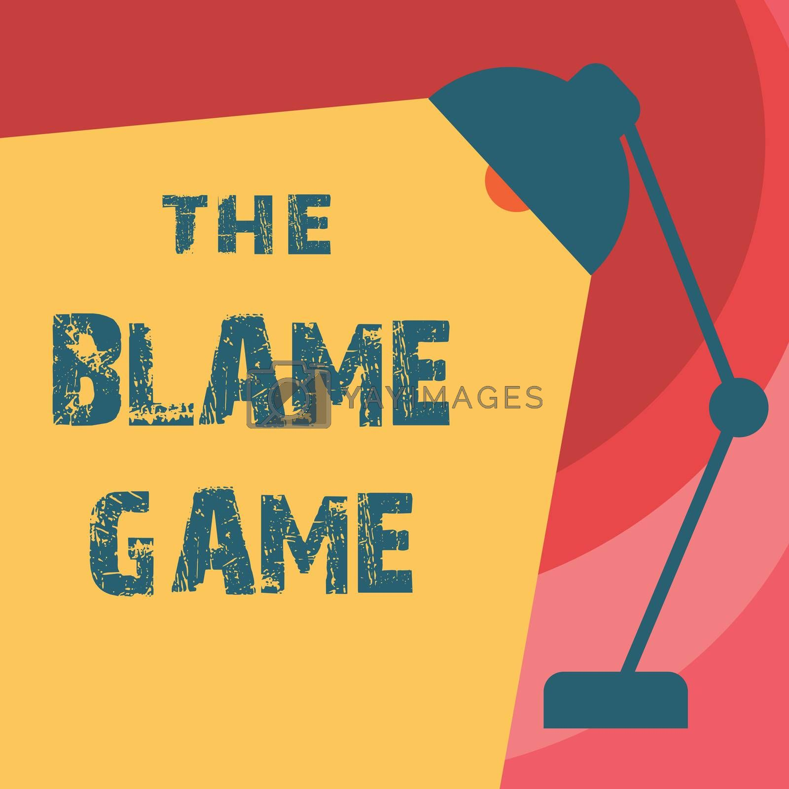 Handwriting text writing The Blame Game. Concept meaning A situation when people attempt to blame one another by Artur Szczybylo