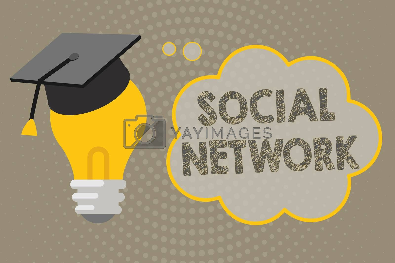 Handwriting text writing Social Network. Concept meaning Interactions Sharing Information Interpersonal relationship.
