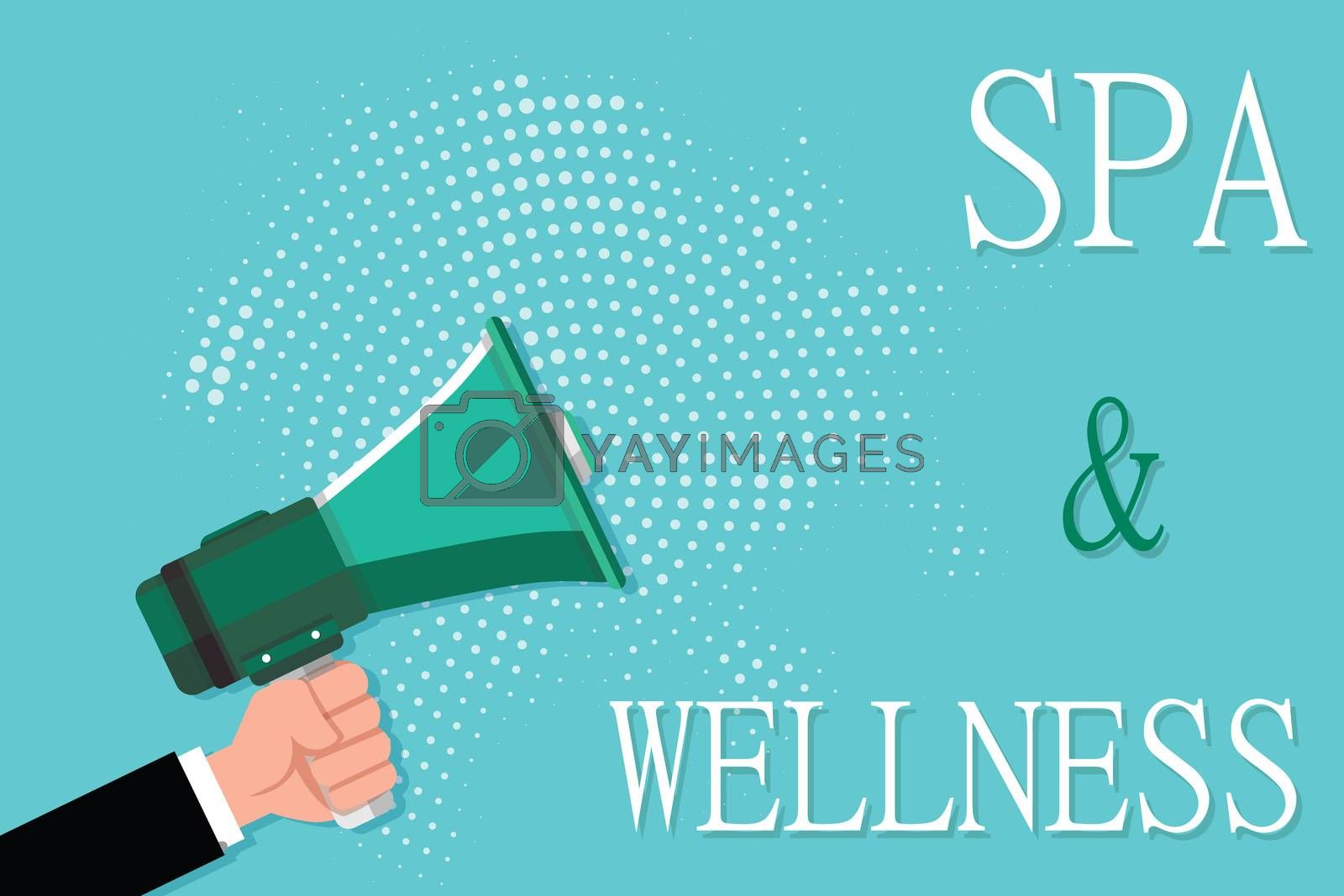 Conceptual hand writing showing Spa and Wellness. Business photo showcasing Place where people go to improve their health Relaxation.