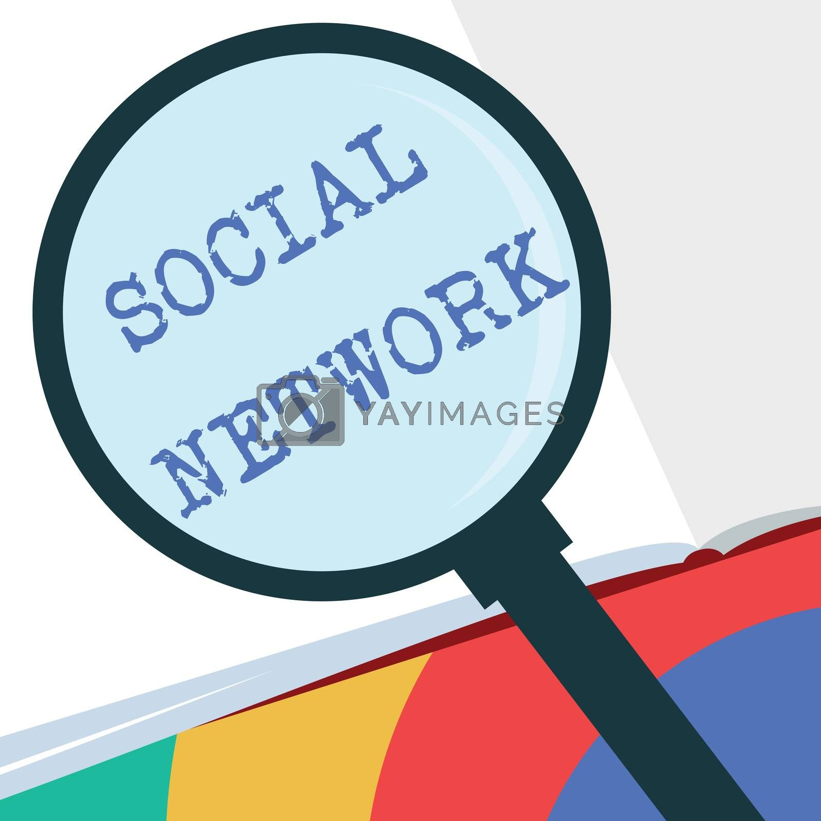 Text sign showing Social Network. Conceptual photo Interactions Sharing Information Interpersonal relationship.