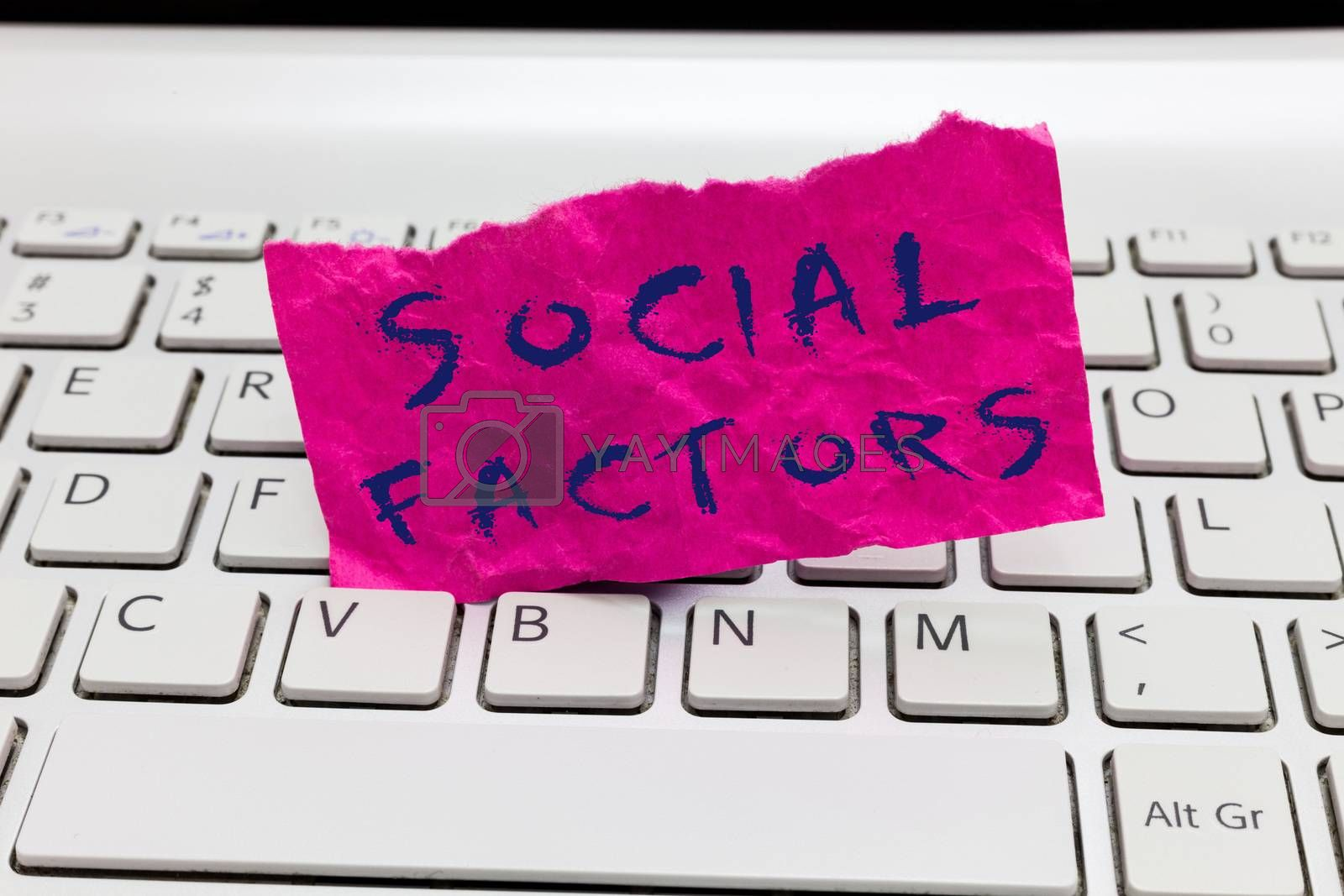 Word writing text Social Factors. Business concept for Things that influences lifestyle Cultural Differences.