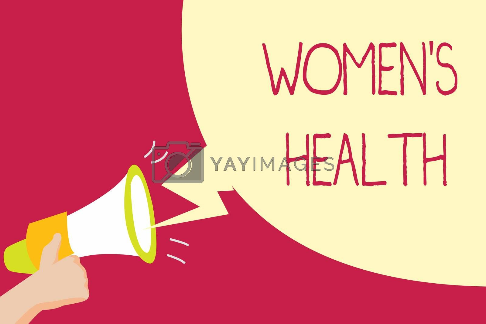 Handwriting text writing Women s is Health. Concept meaning Women's physical health consequence avoiding illness.
