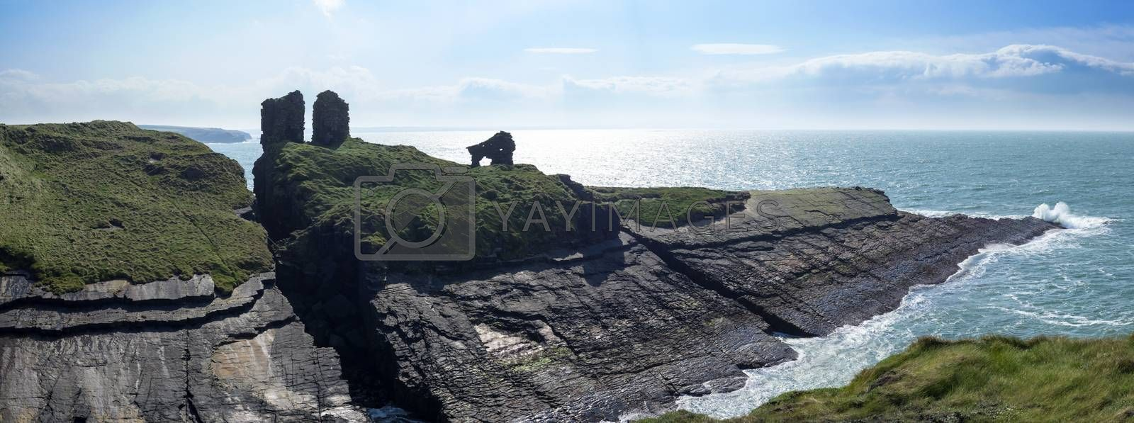 lick castle in county kerry ireland on the wild atlantic way panorama