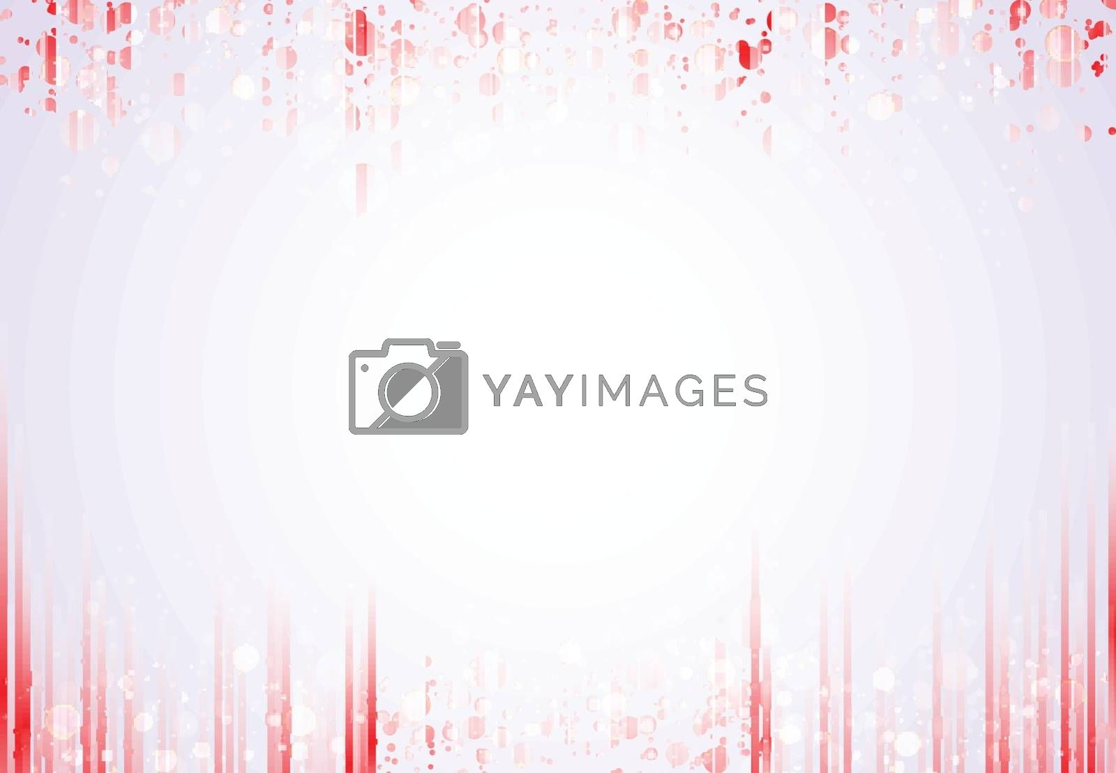 Template header and footers red vertical lines pattern with sparkle and bokeh background with copy space. Vector illustration