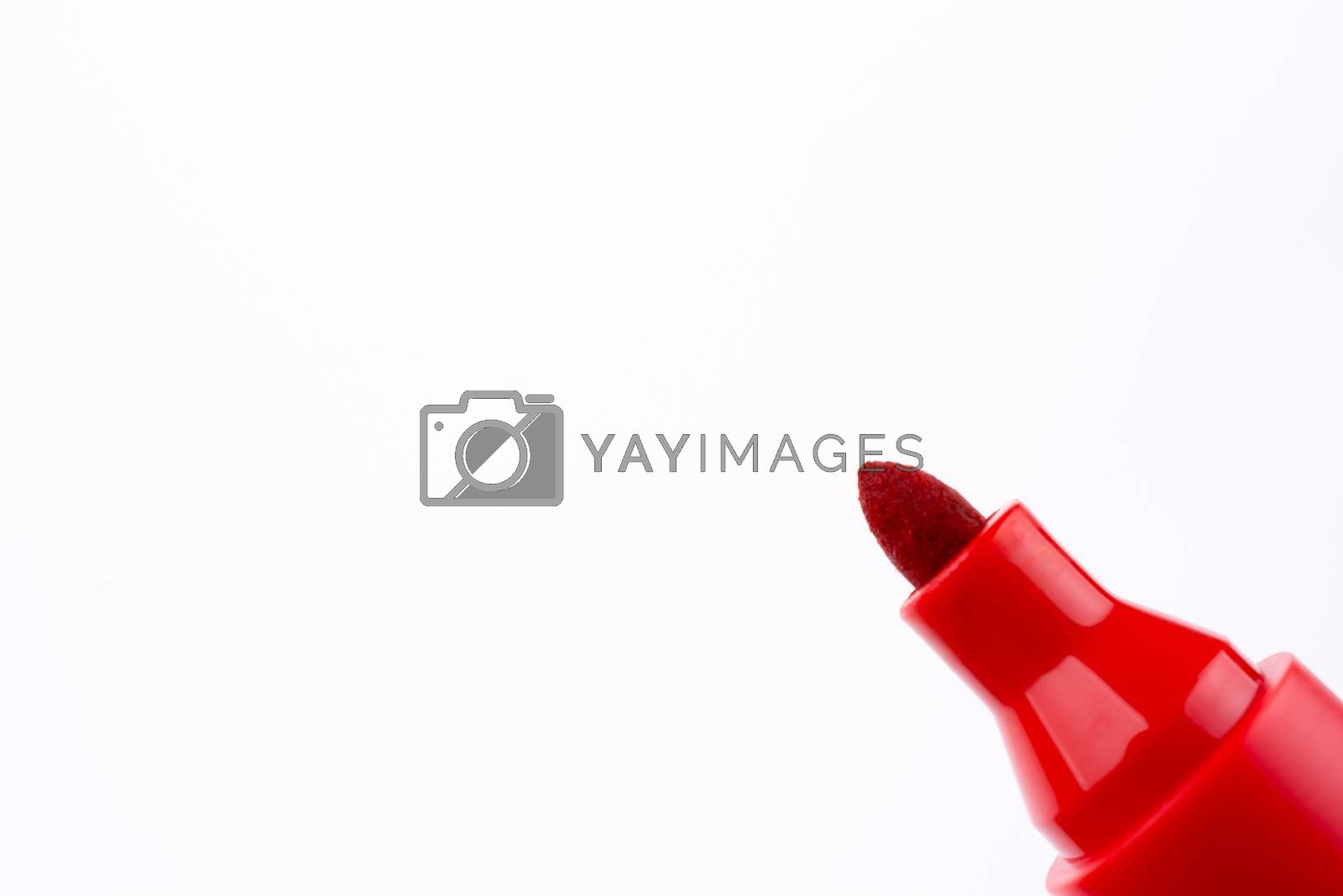 Color marker on a white background