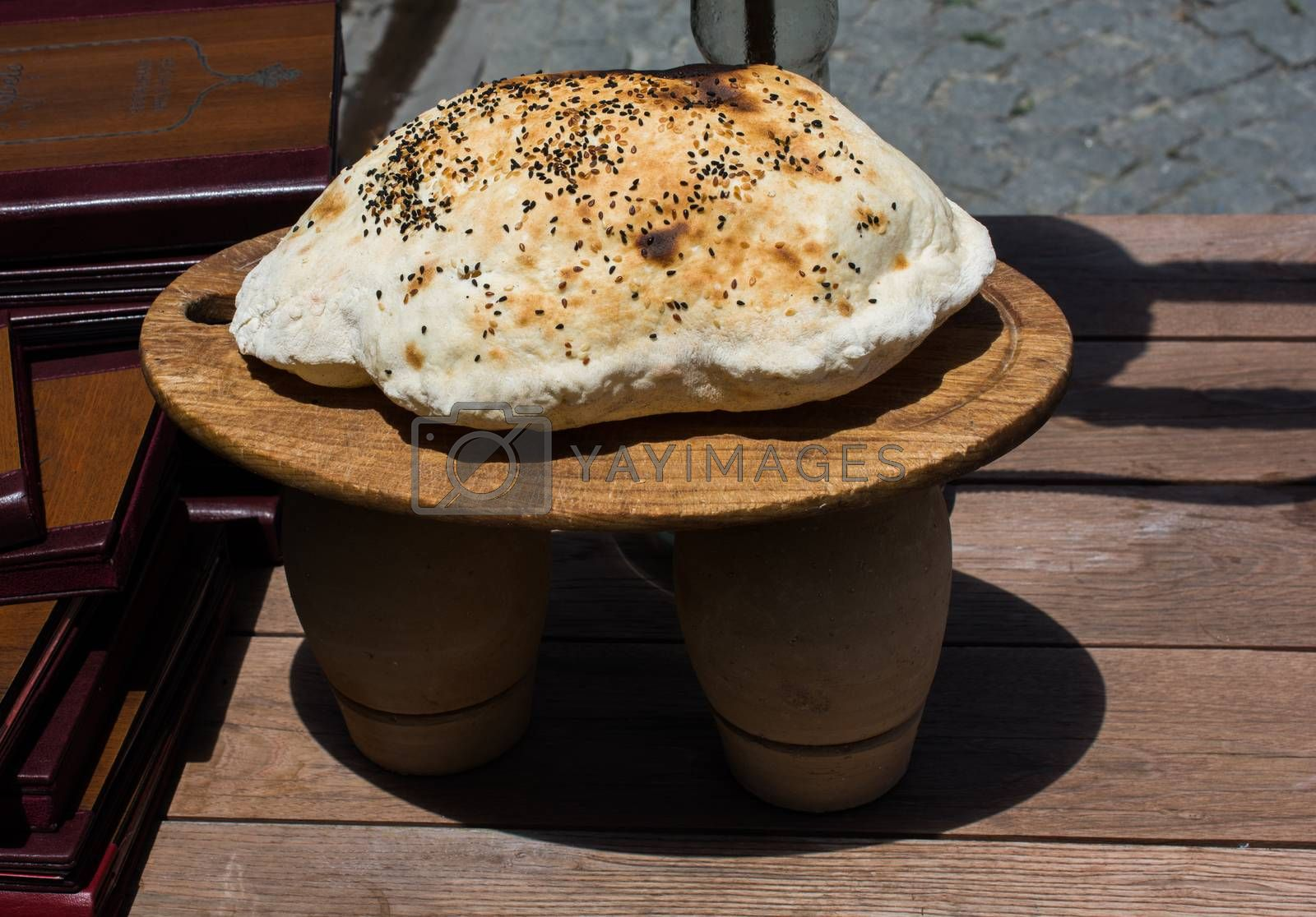 Traditional Turkish style made bread loaf