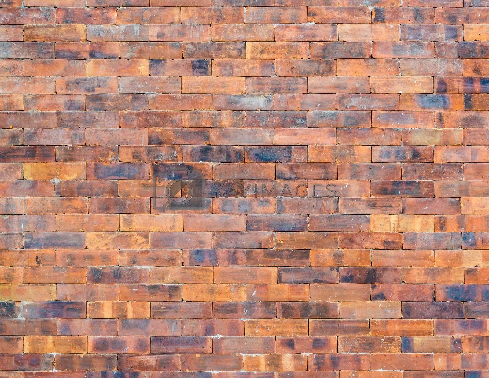 Typical Nepalese jointless brick wall texture