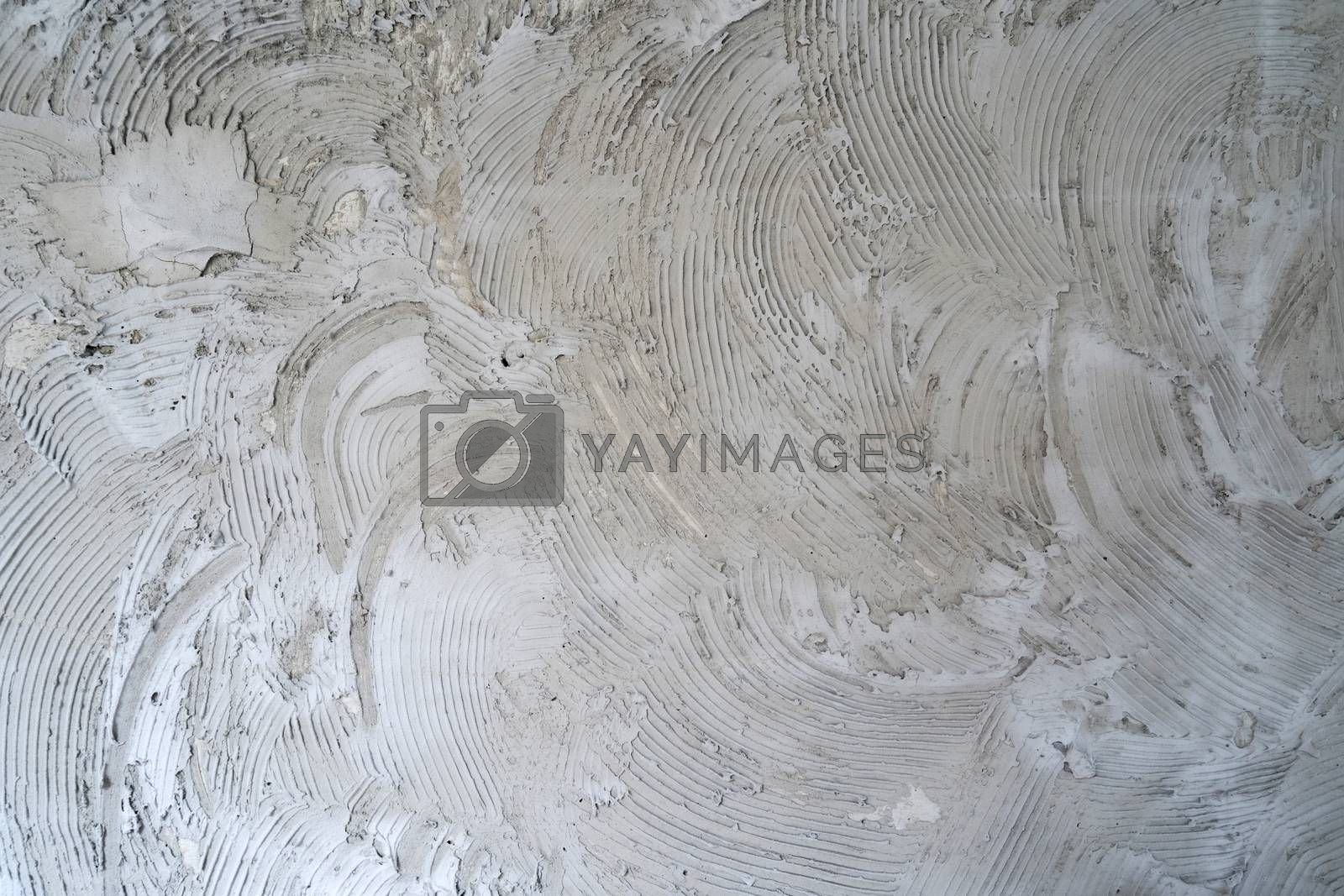 Royalty free image of concrete wall comb surface prepared for tiling by antpkr