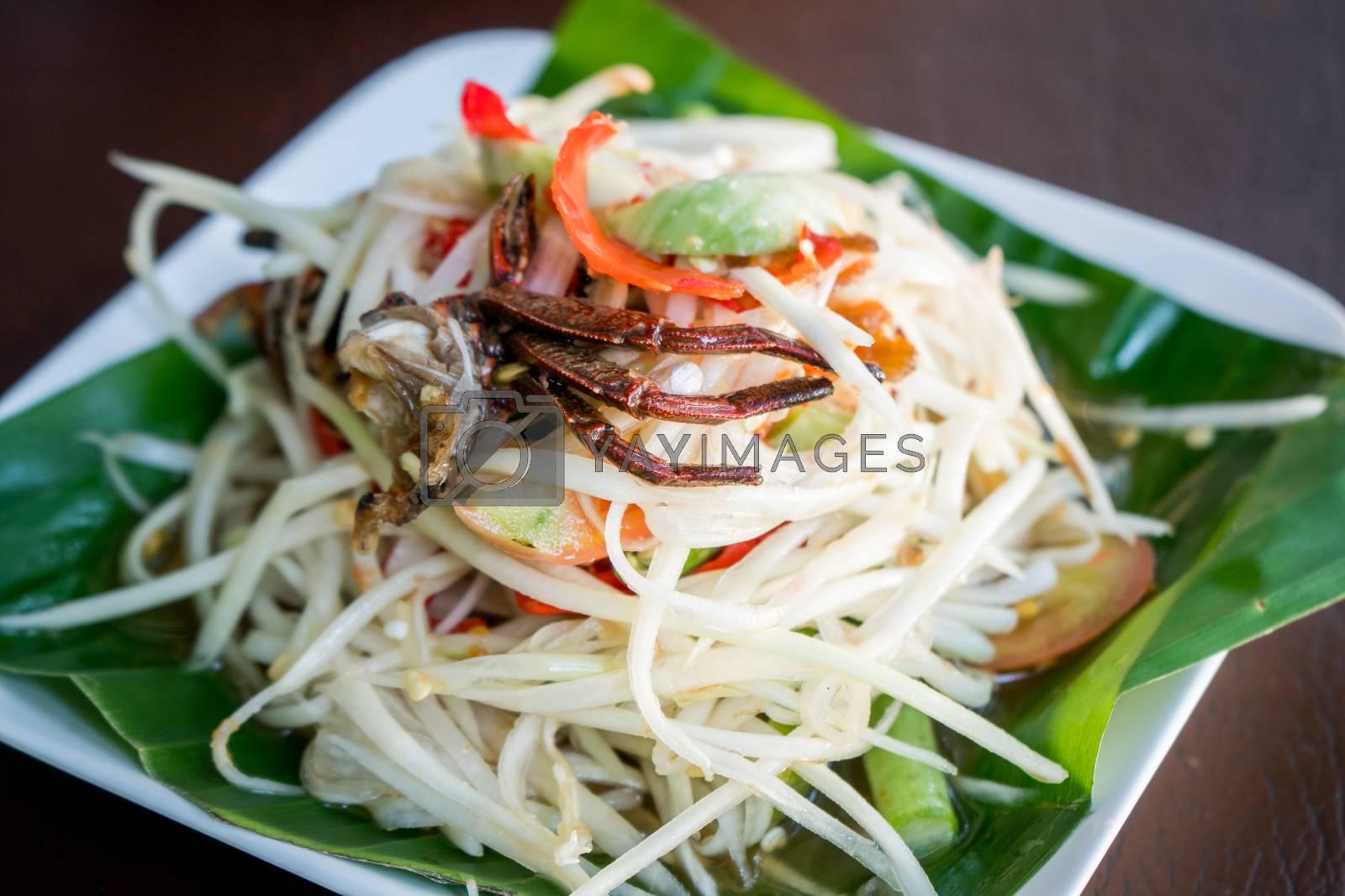 Royalty free image of papaya salad, som tum by antpkr
