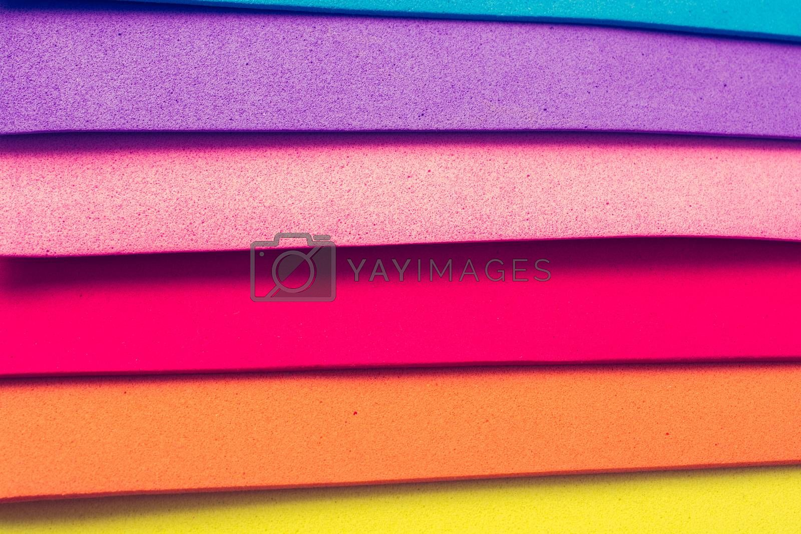 Material design colorful layers in geometric colorful overlap