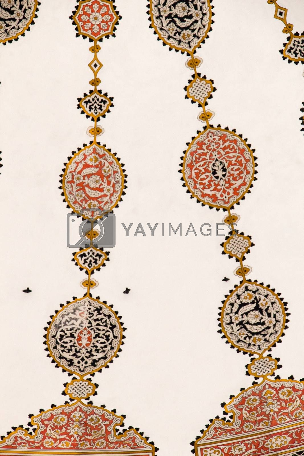 Floral art pattern example of the Ottoman time