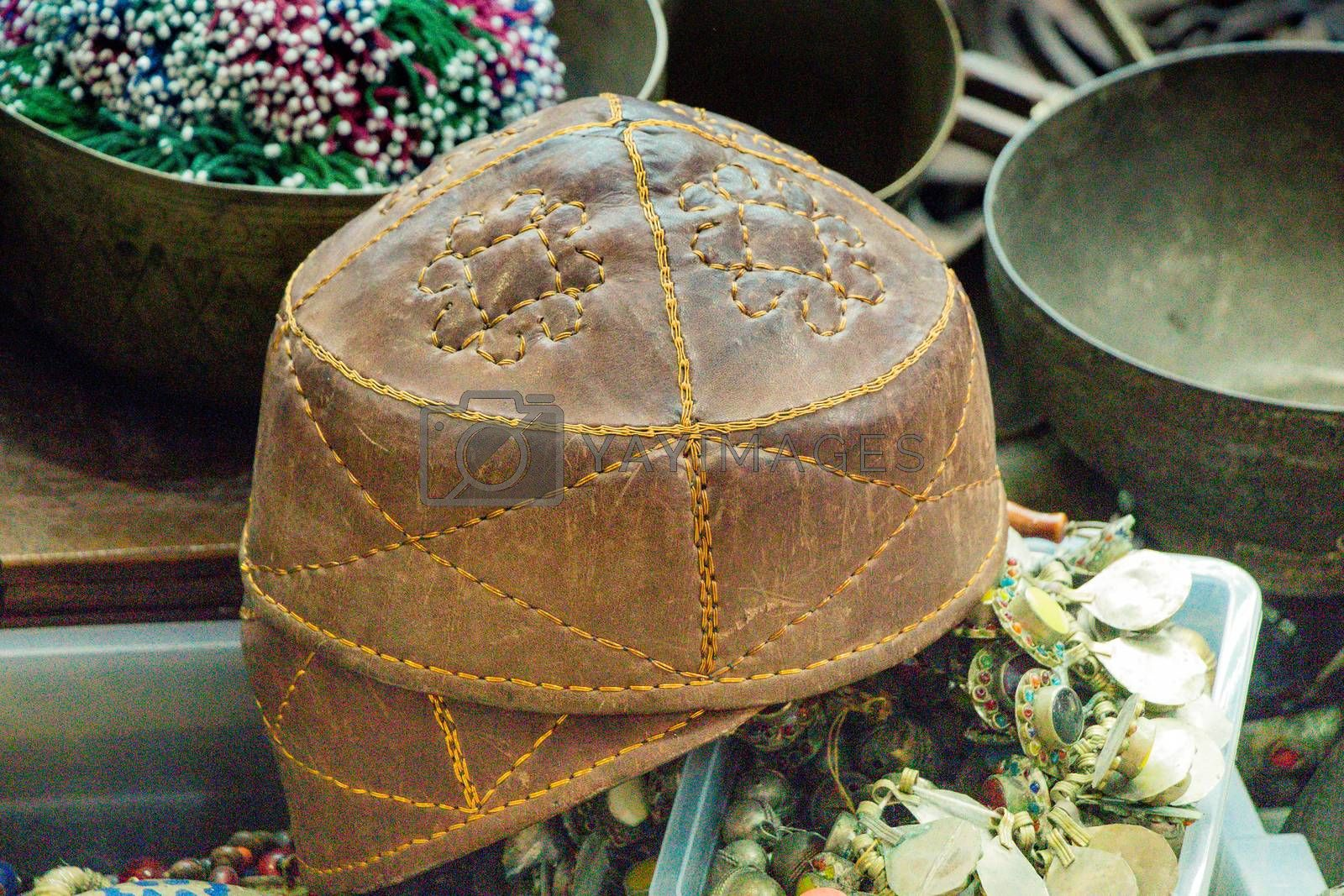 Traditional turkish nad Turkic hat in view