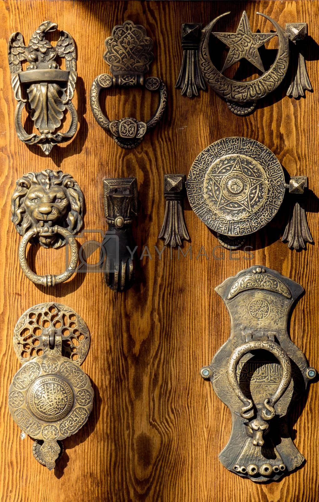 Old Handmade ottoman door handle made of metal