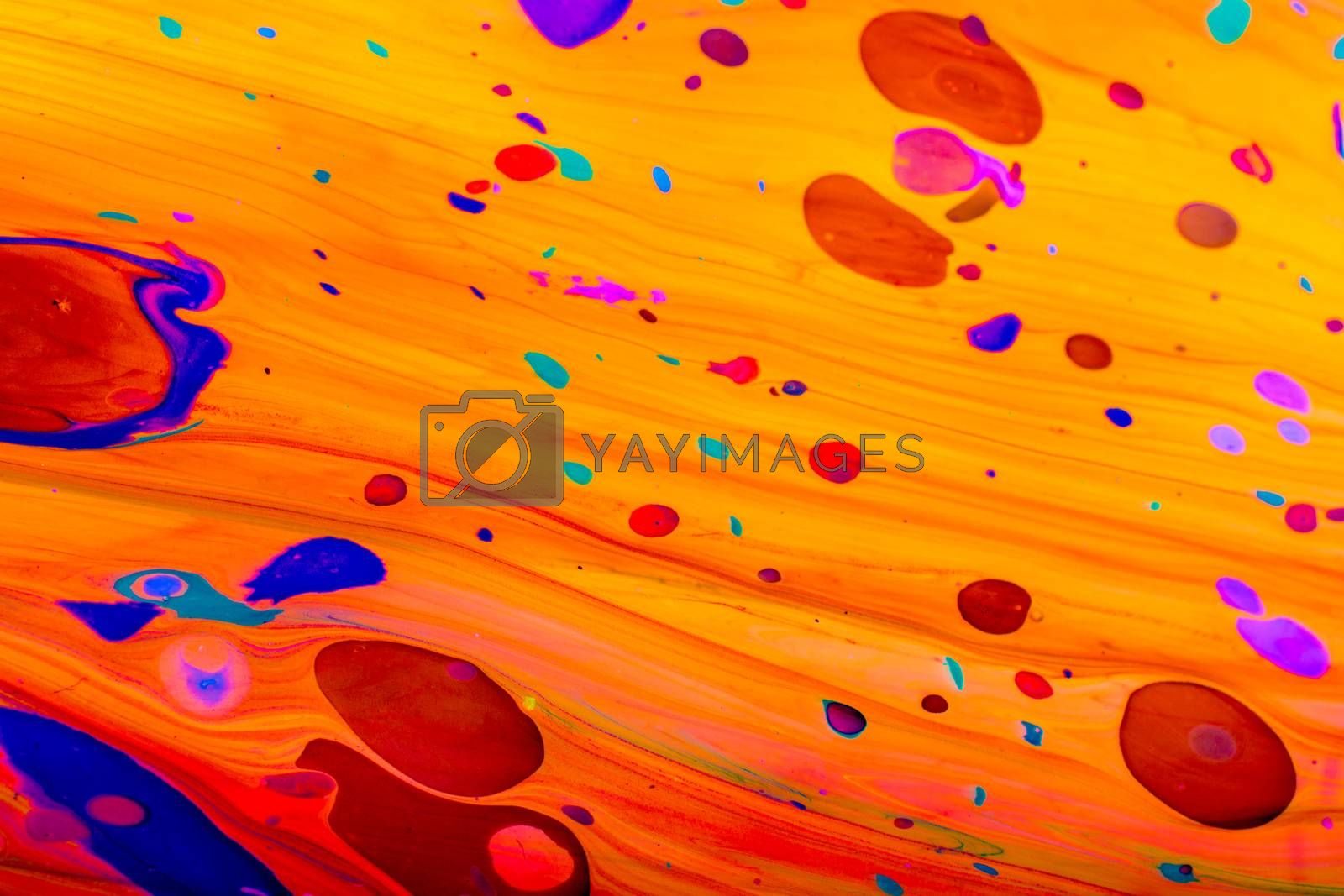 Traditional Ottoman Turkish marbling art patterns as abstract colorful background