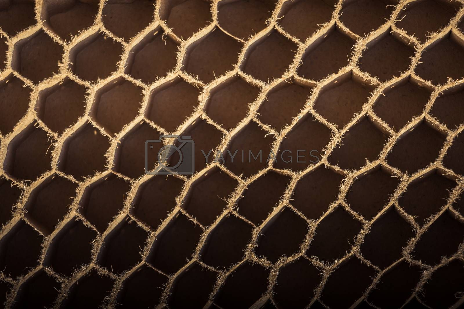 Corrugated cardboard edges texture as an Industrial background